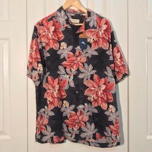 NWT Christmas Shirt Tommy Bahama Poinsettia